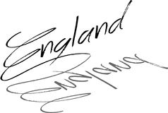 England Text sign illutration. On white background Stock Photo