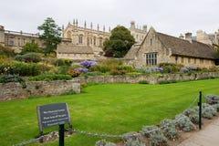 england trädgårds- minnes- oxford kriger Royaltyfri Foto