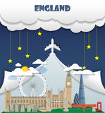 England travel background Landmark Global Travel And Journey Inf. Ographic Vector Design Template. illustration Royalty Free Stock Image