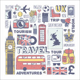 England Travel Set Stock Photos