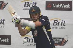 England 2012 V Australien den 4th en daginternationalen förtjänar perioder Royaltyfria Foton