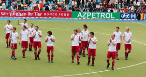 England V Belgium.Hockey European Cup Germany 2011 Royalty Free Stock Photo