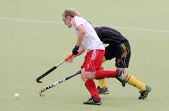 England V Belgium.Hockey European Cup Germany 2011 Stock Photo