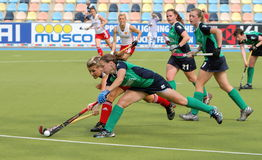 England V Ireland.Hockey European Cup Germany 2011 Stock Photography