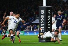 England V Schottland - Nationen Guinneß sechs lizenzfreie stockfotos