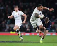 England v Scotland - Guinness Six Nations. LONDON, ENGLAND - MARCH 16 2019: Manu Tuilagi of England during the Guinness Six Nations match between England and stock images