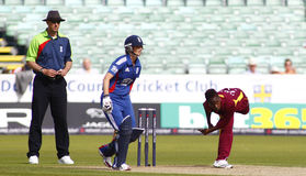 England V västra Indies kvinnors match för syrsa för T20 internationell Fotografering för Bildbyråer