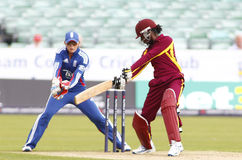 England v West Indies Women's T20 International Cricket Match Stock Images