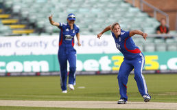 England v West Indies Women's T20 International Cricket Match Royalty Free Stock Image