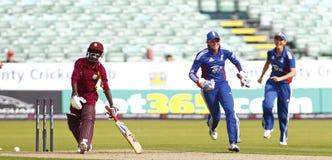 England v West Indies Women's T20 International Cricket Match Stock Photos