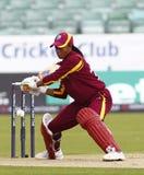 England v West Indies Women's T20 International Cricket Match Stock Image