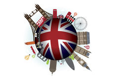 England Vector. England Landmark and Icon Vector royalty free illustration