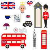 England vector traditional symbols. Royalty Free Stock Photography