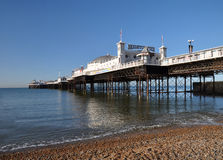 England - Vertical Panorama of Brighton Pier Stock Photography