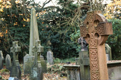 England. Very old english cemetery Royalty Free Stock Images