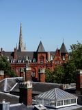 England: Victorian roofs in Norwich Royalty Free Stock Photo