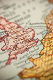 England on Vintage Map. England is in focus on a vintage map royalty free stock photos