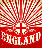 England vintage old poster with english flag colors vector illustration