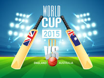 England Vs Australia World Cup Cricket match concept. Royalty Free Stock Images
