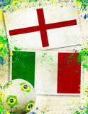 England vs Italy soccer ball concept Royalty Free Stock Image