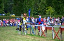 England vs Scotland knights joust Royalty Free Stock Photography