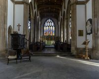 Church of St Cuthbert Chancel Royalty Free Stock Photos