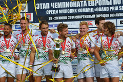 England wins Rugby 7 Grand Prix Series in Moscow Stock Images