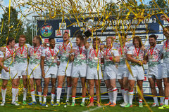 England wins Rugby 7 Grand Prix Series in Moscow Stock Photos
