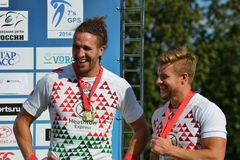 England won Rugby 7 Grand Prix Series in Moscow Royalty Free Stock Photography