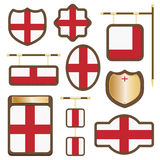 England wooden plaques Royalty Free Stock Images