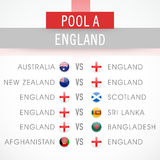 England World Cup 2015 match schedule. Royalty Free Stock Photo