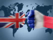 England x france Royalty Free Stock Photos