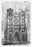 England, York Minster, vintage engraving Royalty Free Stock Image