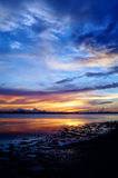 Englewood, FL bei Sonnenuntergang lizenzfreie stockbilder