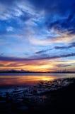 Englewood FL på solnedgången Royaltyfria Bilder