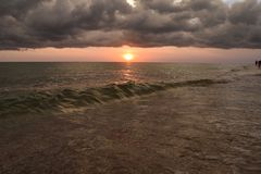 Englewood-Sonnenuntergang stockfotografie