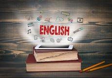 Englisch, Bildung und Geschäftshintergrund lizenzfreies stockfoto