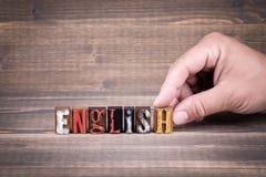 Englisch, Bildung und Geschäftskonzept stockfoto