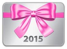 2015 Englisch calendar_red Lizenzfreie Stockbilder