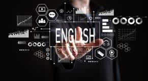 Englisch mit Geschäftsmann lizenzfreie stockbilder