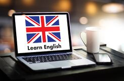 ENGLISCH (Sprachbildung Briten England) lernt englischen Lan stockbild
