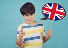 Englisch sprechendes Kind lizenzfreies stockfoto