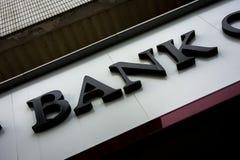 Englische Übersetzung Bank der Bank lizenzfreie stockbilder