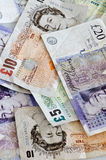 Englische Banknoten Stockfotos