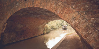Englische Brücke am Kanal lizenzfreies stockfoto