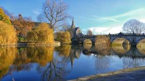 Englische Brücke Shrewsbury Lizenzfreie Stockfotos