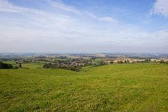 Englische Dorflandschaft Stockfoto