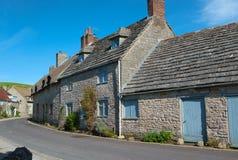 Englische Dorfszene Stockfotografie