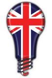 Englische Großbritannien-Tastenmarkierungsfahnen-Lampenform Lizenzfreies Stockbild
