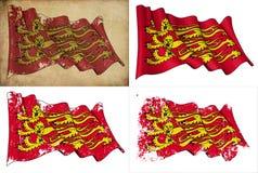 Englische königliche Fahne stock abbildung